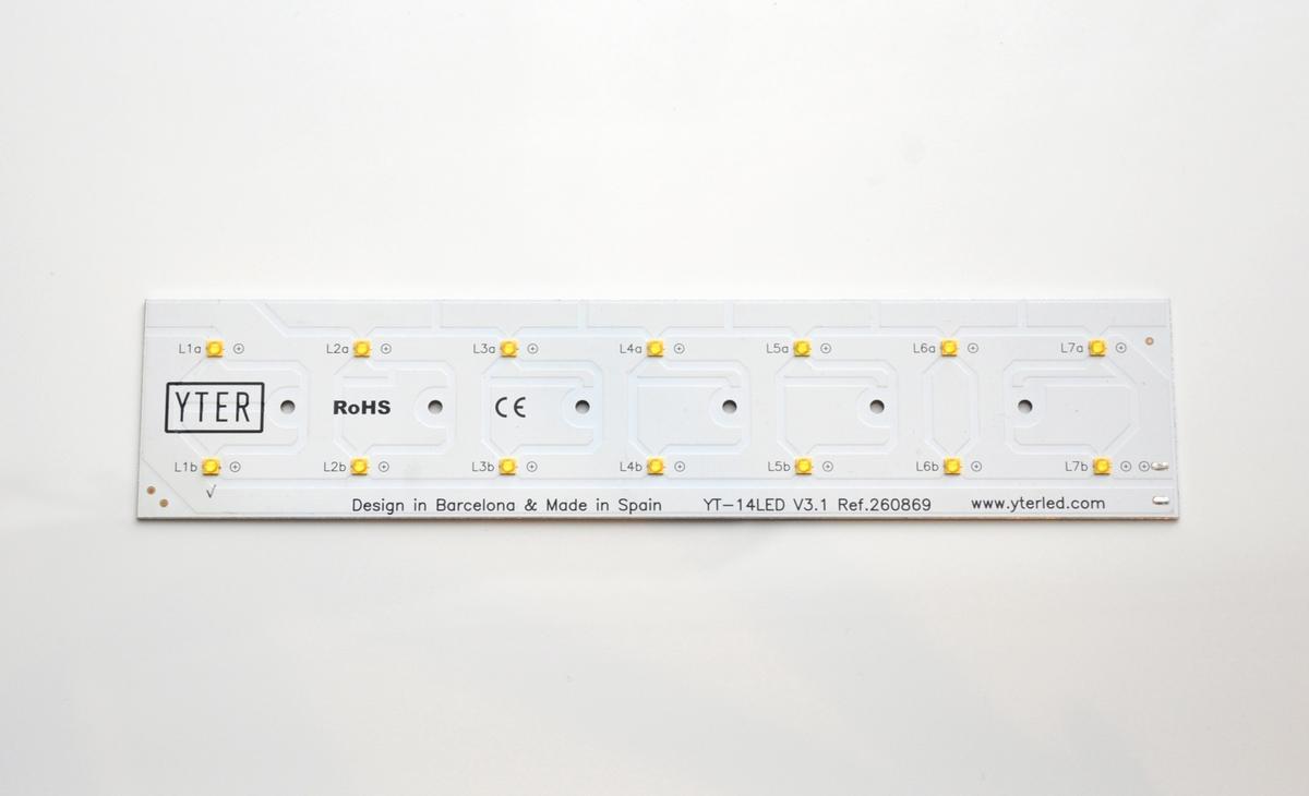 Circuito electrónico iluminación led diodos SMD PCB